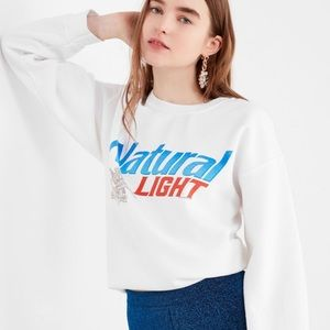 Natty Light junk food cropped crewneck